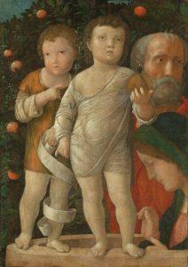 Sacra Famiglia con San Giovanni - Andrea Mantegna