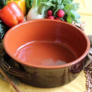 How to prepare Bagna Cauda earthenware saucepan - tegame terracotta